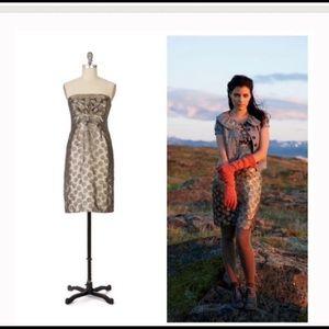 Moulinette Soeurs Dawns Frost strapless dress